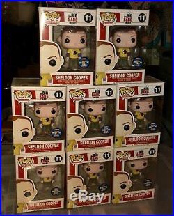 1 Sdcc 2012 Funko Pop Tv The Big Bang Theory Sheldon Cooper Hawkman Shirt Rare