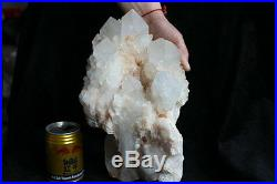 15.8LB RARE SKELETAL BIG QUARTZ CRYSTAL CLUSTER POINTS With Baby Points Around