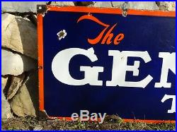1930´s The General Tire Porcelain Enamel Big Sign Board Very Rare