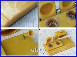 1930s Art Deco Big Amber Bakelite Inkwell desk set 1906 Gram Extremely Rare