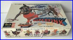 1964 Ed Big Daddy Roth Revell SUPERFINK in VINTAGE BOX sealed parts withrare FLYER
