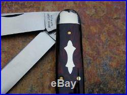 2017 Great Eastern Gec Tidioute Red River Acrylic 54 Big Jack Knife Rare 1/175
