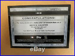 2020 Topps Museums Collection Big Bat Barrel Nameplate Bryce Harper RARE! 1/1