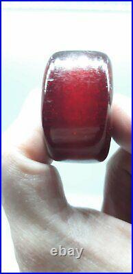 30 Gram Antique Rare Faturan Cherry Amber Bakelite Big Bead With Stardust