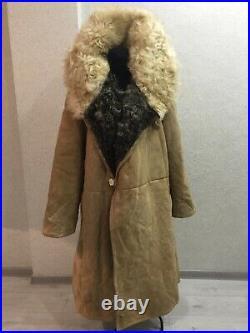 60 Rare! Big Tulup Bekesha Winter Sheepskin Coat General Soviet Army USSR