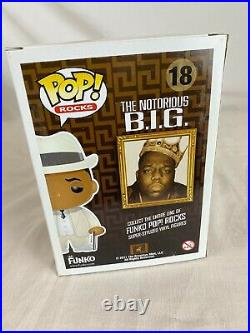 AUTHENTIC Funko Pop Rocks Notorious Big Biggie B. I. G. Rare Vaulted Hard Stack 18