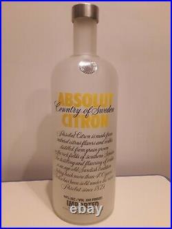 Absolut Vodka Citron 7 Liter BIG Bottle RARE