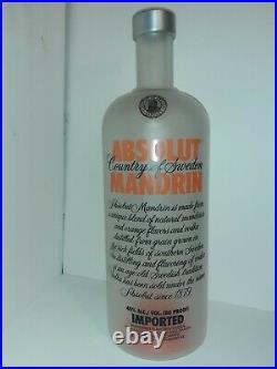 Absolut Vodka Mandrin 7 Liter BIG Bottle RARE EMPTY BOTTLE