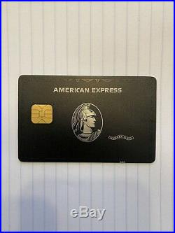 American Express Centurion Black Card with big EMV chip. Ultra RARE