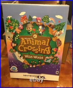 Animal Crossing Wild World Nintendo DS Promo Store Display Big Box USED RARE