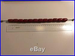 Antique Faturan Veined Cherry Amber Prayer Beads Big Barrel 71,3 g Rare Egyptian