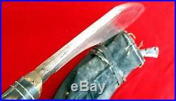 Antique Nepal Big Kukri KHUKURI knife DAGGER dirk withScabbard unusual HILT RARE