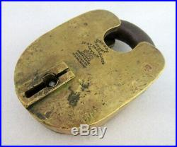 Antique Old Rare Big Size Original Chubb's Fish Engraved Padlock With Key London