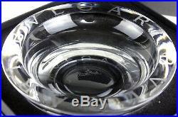 Auth BVLGARI Rosenthal Ashtray BULGARI Crystal Bowl Big Size 20 cm with BOX Rare