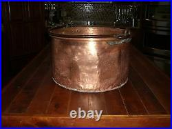 BIG Antique COPPER POT CAULDRON KETTLE Apple Butter FRENCH EXTREMELY RARE