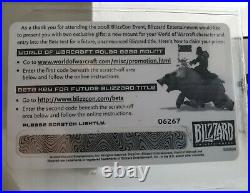 BIG BLIZZARD BEAR unscratched Blizzcon Loot Card World Of Warcraft RARE