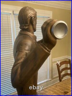 BIG & RARE! 45 Dos Equis Beer Most Interesting Man Statue Sign Advertisement
