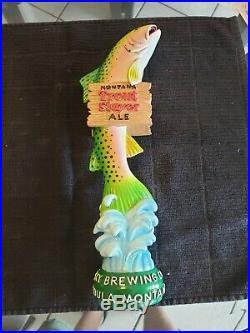 BIG SKY Brewing TROUT SLAYER beer tap handle. Missoula, MONTANA. RARE