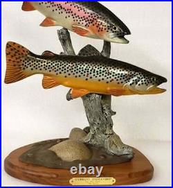 Big Sky Carvers Current Endeavors Rainbow Trout New Fish Reel Rare Carving