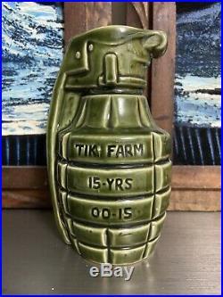 Bobomb Hand Grenade Tiki Bob Mug Green Big Toe & Tiki Farm Sold Out Super Rare