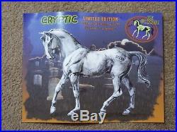 Breyer Cryptic Halloween SR Glow in the Dark Big Ben with Rare Original Poster
