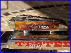 Case XX RARE Red Stag 5520 Big Nut 5 Blade Peanut Knife
