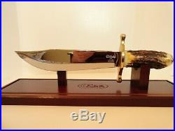 Case XX Stag Big Bowie Knife Leather Sheath Mint In Box Rare Last Production run