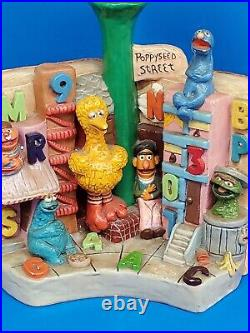 Collectible Vintage Sesame Street Ceramic LAMP 70's-80's Rare Grail Big Bird WOW