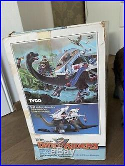 Dino Riders Brontosaurus Tyco Toys Vintage With Manual And Box Dinosaur Rare Big