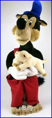 Disney Big Bad Wolf Plush Doll Joy Toy Lanz 110 cm 44 SUPER RARE