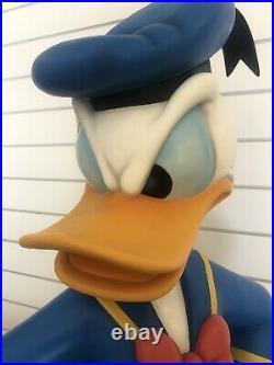 Disney Big Fig Life-Sized Donald Duck Two Heads Rare LE Statue Figurine