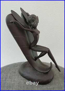 Disney Figurine Fantasia Dew Drop Fairy Garden Statue Big Fig Collectible Rare