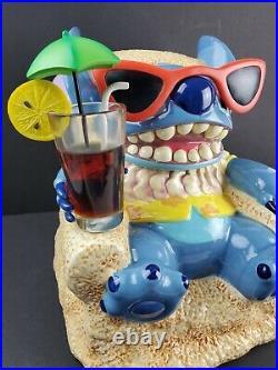 Disney Lilo & Stitch Cookie Jar Big Figure Summer Beach Limited Edition 350 RARE