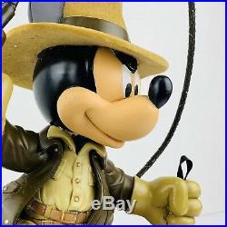 Disney MICKEY MOUSE INDIANA JONES BIG FIG Medium Figurine WDW RARE 16 Fast ship