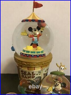 Disney Mickeys Big Top Circus Snow Globe. RARE