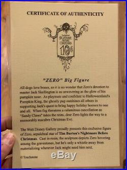 Disney Nightmare Before Christmas Zero Big Figure Statue RARE Light Up Nose HUGE