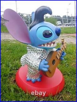 Disney Parks Stitch As Elvis Statue RARE Big Piece Collectible Rhinestones