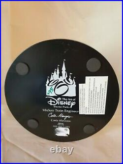 Disney RARE Mickey Train Engineer Big Fig Statue Light Up Lantern Costa Alav