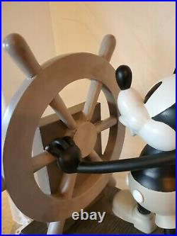 Disney RARE Steamboat Willie Big Fig Mickey Mouse With Box 85th Anniversar