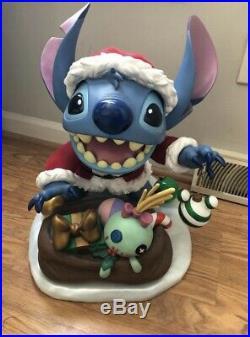 Disney Santa Stitch Big Fig Limited Edition Rare EUC