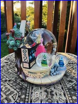 Disney Snow Globe Aurora Sleeping Beauty Big Rare
