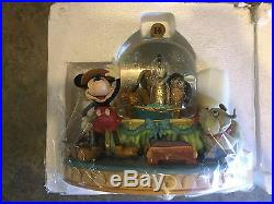 Disney Snow Globe Society Dog Show Mickey Mouse New in Original Box Big Rare