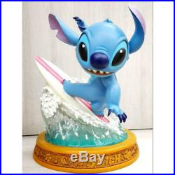 Disney Store Limited Edition Stitch Surfing Big Figure Toy Statue Rare 16.5 inch