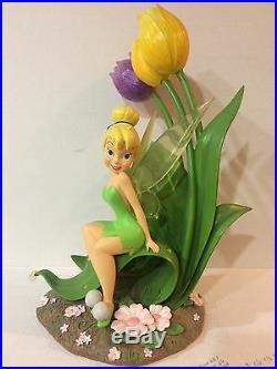 Disney TinkerBelle With Tulips Beautiful Big Fig / RARE
