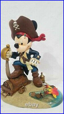 Disney's Disneyland World Mickey Mouse Pirate Of The Caribbean Big Figure RARE