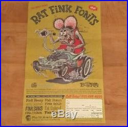 Ed Big Daddy Roth Autograph RARE House Industries Signed Rat Fink Hot Rod Kustom