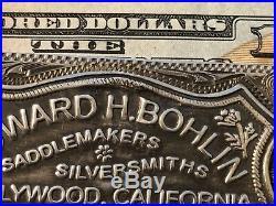 Edward H. BOHLIN STERLING SILVER 14k SADDLE PLATE MONEY CLIP RARE BIG WAD