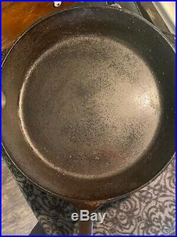 Extremely Rare 1930s Lodge Single Notch No. 12 Cast Iron Skillet! Big Boy! Nice