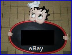 Extremely Rare! Betty Boop Menu Board Big Figurine Statue