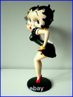 Extremely Rare! Betty Boop Sexy Waitress in Black Dress Big Figurine Statue